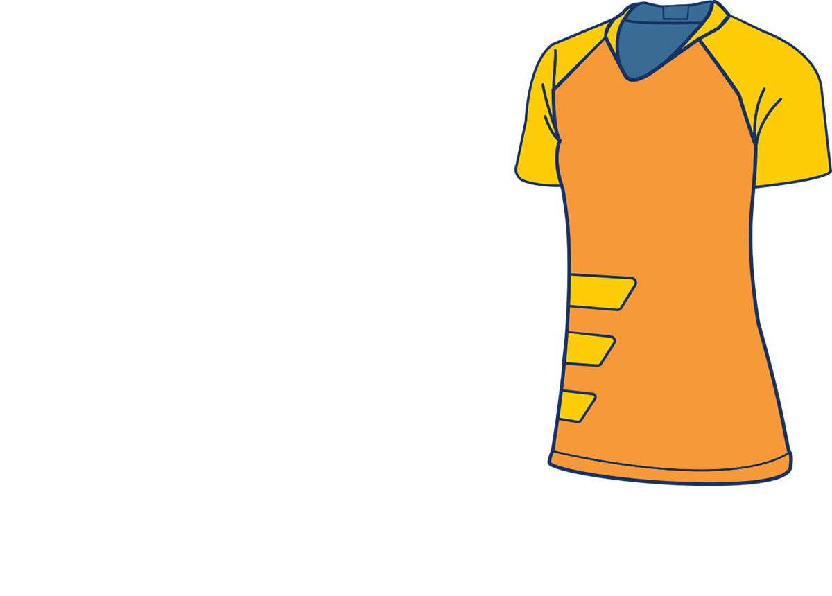A short-sleeved athletic shirt.